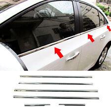 6PcFor Chevrolet Cruze Sedan Chrome Window Frame Sill Trim Surround Cover Lining