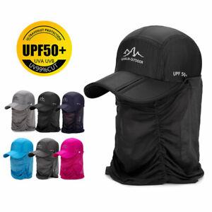 Outdoor Sonnenhut Angeln Hutfaltendes Netz Baseballkappe Abnehmbar &Nackenschutz
