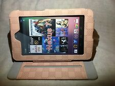 "Google Nexus 7"" Case Trio,Pink.Tablet Smart Cover Adjustable View. Free Stylus"