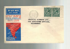 1933 England Brisbane Australia First Flight Cover Imperial Airways Qantas Ffc