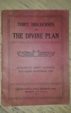 Rare Watchtower Jehovah Pastor Russell Three Discourses 1916!