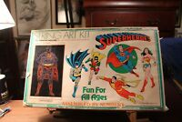 RARE 1976 Vintage SUPERMAN SUPERHEROES STRING ART KIT Smith House In Box DC