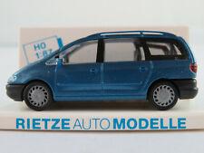 Rietze 20740 Ford Galaxy I (1995-2000) in blaumetallic 1:87/H0 NEU/OVP