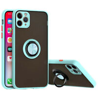 For iPhone 11 pro Max Rotation Ring Case Hybrid Slim Bumper Kickstand Cover