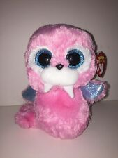 "TY TUSK PINK WALRUS 6"" BEANIE BOOS-NEW, MINT TAG *SUPER SOFT & ADORABLE*"