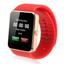 GT08 Bluetooth Smart Wirst Watch NFC Phone Mate for Android & IOS Gold+Red New