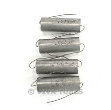 Vintage Lot Of 4 Paper In Oil Capacitors 068 Uf 400 Vdc
