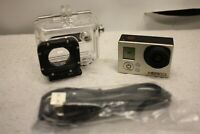 GOPRO CHDHN-301 HERO3 ACTION CAMERA CAMCORDER WITH WATERPROOF CASE NO BATTERY