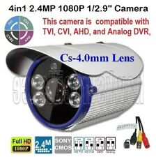 "4in1 2.4Mp 1080P 1/2.9"" Waterproof outdoor Camera 4Irx1.8mm Cs-4.0mm Lens O.S.D"