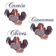 CounTrY RooSteR SpiCe LaBeLs ShaBby WaTerSliDe DeCals
