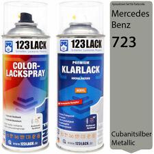 Autolack Lackspray Set Mercedes Benz 723 CUBANITSILBER Metallic Spray + Klarlack