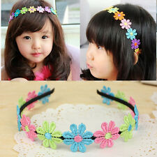 Baby Kids Girls Colorful Flower Headband Hair Band Accessories