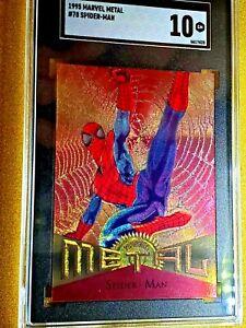1995 Fleer Marvel Metal Spider-Man #78 Gem Mint 10 Low Pop 10 RARE AMAZING CARD