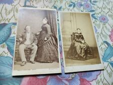 Two Victorian Cabinet/ CDV Cards Wolstenhulme, Blackpool. Salthouse, Manchester.