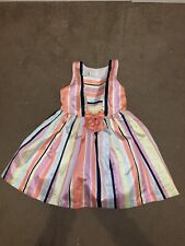Pippa and Juliekids girls Party Striped dress 4 years
