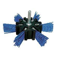 Nylon- Fächerbürste für die Bohrmaschine  Ø 100 mm   fein  blau    NEU   221196