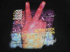 Vintage 90s Pepsi 1994 Woodstock Concert Tour T-Shirt XL