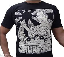 NEW Med-2XL Beefy/ Fit PreShrunk 100% Cotton Tshirt Custom Smurfs Sushi Design