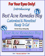 Acne Blog Self Updating Website with Clickbank Amazon Adsense Affiliate Pages **