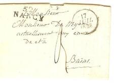 LETTRE MP 52 NANCY + CACHET DATEUR 17 -7-1828