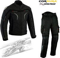 SPEED HAWK MENS METAL PRO CE MOTORBIKE / MOTORCYCLE TEXTILE JACKET TROUSERS SUIT