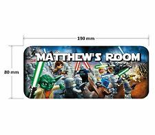 Lego Star Wars Door Plaque 2 - Personalised Childrens Bedroom Sign Boys Girls