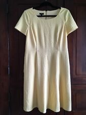 Talbots. Dress. Sz 12P. Yellow ,Short Sleeve, Back Zip, Pockets,Lined