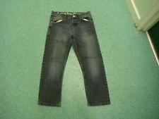 "Crosshatch Straight Jeans Waist 30"" Leg 26"" Faded Dark Blue Mens Jeans"