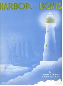 """KENNEDY/WILLIAMS """"HARBOR LIGHTS"""" SHEET MUSIC-PIANO/VOCAL/GUITAR/CHORDS-1937-NEW!"""
