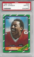 1986 Topps #364 - Billy JOHNSON - PSA 10+++ Falcons