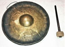 New listing Antique Chinese Asian Bronze Gong with Hammer not vase