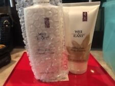 White Lotus 8 oz Cleansing Cream in pump Wei East & Body Lotion 5.25oz
