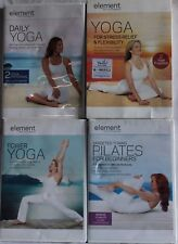 4 Element Yoga Workout Exercise Fitness Dvd Lot Daily Pilates Power Flexibility