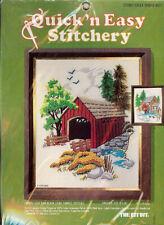 "New listing Quick 'n Easy Stitchery Kit ""Stoney Creek Bridge"" Kit Bit #511 1976 - New in Pkg"