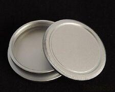 for Leica L42 M42 42mm screw lens metal body cap and rear cap back cap silver