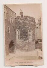 Vintage CDV The Tower of London  J. Davis Burton Photo