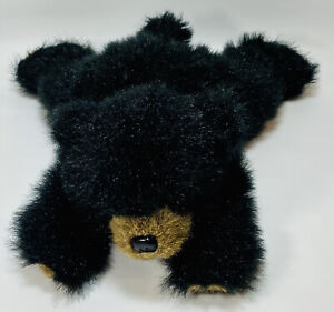 "Bearington Collection Plush Stuff Animal Baby Rocky Bear Black Grizzly 13"" Cabin"