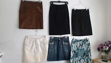 EUC CACHE SIZE 0 WOMEN'S LOT OF 8 MIX STYLE COTTON POLY LEATHER JEANS SKIRT