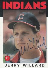 1986 Topps #273 Jerry Willard Cleveland Indians Signed Autograph Catcher
