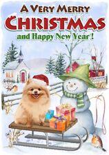 "Pomeranian Dog A6 (4"" x 6"") Christmas Card - Blank inside - by Starprint"