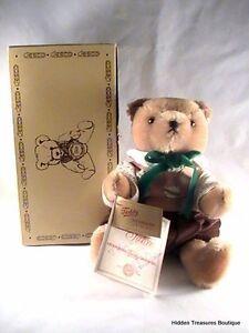NWT Hermann Teddy Bear Original LE 75th Anniversary Jointed Brown Plush Rare