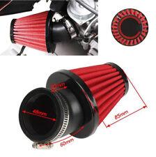 48mm Motorcycle motor 45° Bend Air Intake Filter Dual Layer Stainless Steel Mesh