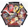 8x Beyblade Burst Spinning Tops w/ LR Launcher Bayblade Grip Stadium Arena Set