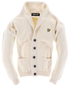 Lyle & Scott Herren Cardigan Pullover Sweater Gr.S V-Neck Beige 109980
