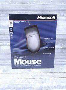 Vtg Microsoft Mouse in Original Box! SEALED IN FACTORY PLASTIC 1996 Ships Fast!