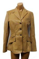 Ralph Lauren Women's Genuine Leather Blazer Jacket  Size 6 NWT $998 Camel Tan