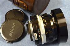 c.1971 Vintage,Nikon NIKKOR 28mm f3.5 Non-AI NonAI Wide Angle Lens F FTn F2 Era