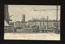 Glos Gloucestershire BRISTOL St Augustine's Parade Quay tram #203 c1902 u/b PPC