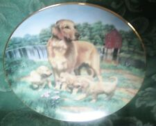 Golden Retrievers . Hamilton Plate Collection designed by Robert Christie,gilded