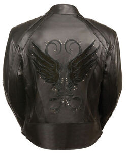 Ladies Jacket w/ Stud & Wings Detailing -ALL Sizes Available- ALL Colors!